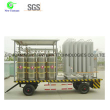 900L Volume Stainless Steel LNG Media Cylinder Group for Vehicle
