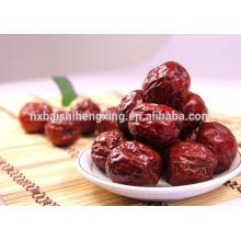 Jujuba vermelho vermelho fecha frutos secos