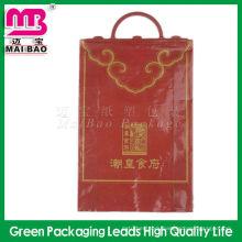 Full color printing plastic fork ear bag for shoes packaging