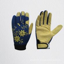 Porco Dividir Couro Palma Mecânico Jardinagem Glove-7318