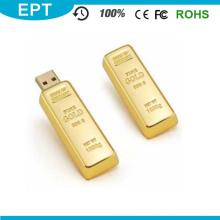 El más nuevo diseño Golden USB Flash Drive Pen Drive 8 GB 16 GB Gold Bar USB 2.0 Memoria Flash Pendrive