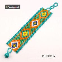 moda joias pulseira esmalte pulseira de cordão cor misturada