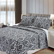 Modern Black Pattern Printing Cotton Bedding Quilt (WSPQ-2016014)
