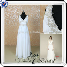 RSW497 Elegant Chiffon White And Silver Cheap Wedding Dresses Made In China