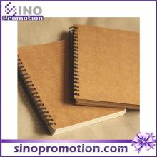 Heißes verkaufendes preiswertes Hardcover-Schule Kraft-Notizbuch