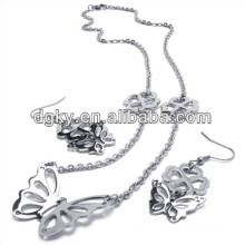Butterfly Fashion Jewelry Sets Earrings and Necklace