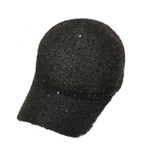 Fashion Black and Yellow Custom Wool Baseball Cap