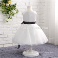 white color Sleeveless Design and OEM Service Supply Type tulle girls party dresses