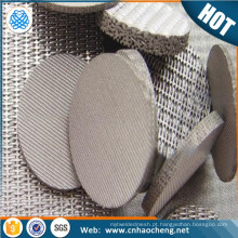 Malha de arame monel 400 sinterizado Microns malha de filtro sinterizado poroso