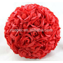 Passionate red artificial rose balls for wedding