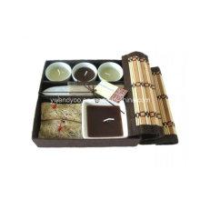 Bambus Aromatherapie Weihrauch Geschenk Sets Duftkerzen