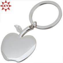 Cadeaux en forme de pomme en argent plaqué porte-clés