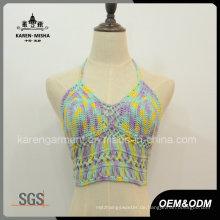 Neckholder Crochet Crop Top Sommerkleidung