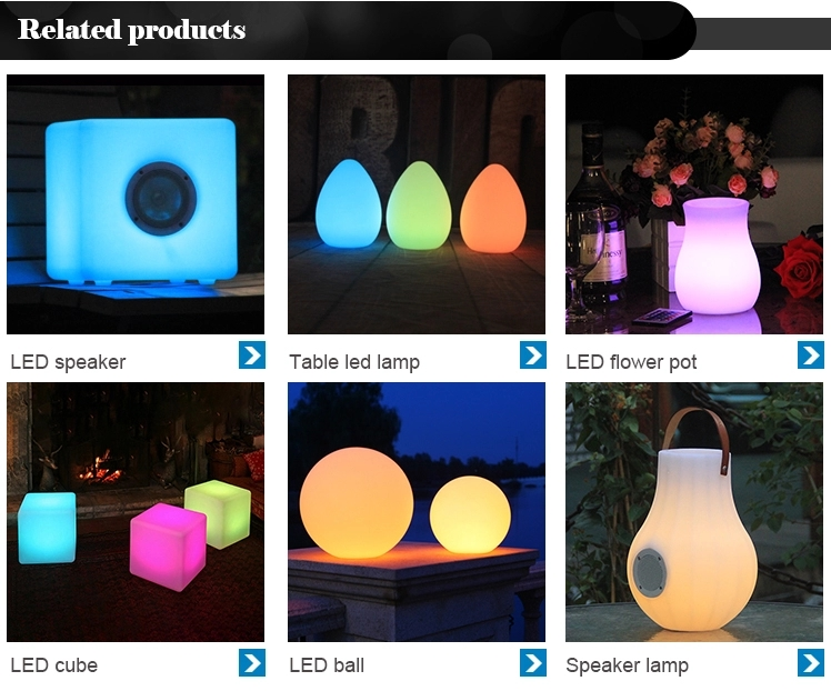 Outdoor LedLight Plastic Plant Pot