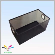 Innovative metal pet food triangle shaped storage rack basket bin