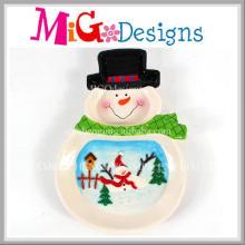 Fashion New Design christmas Snow Design Ceramic Bowl
