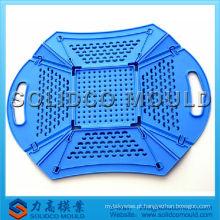 Injeção e molde de cesta de frutas dobrável de plástico