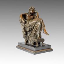 Figura clásica de la estatua del pensador Escultura de bronce, Carpeaus TPE-010
