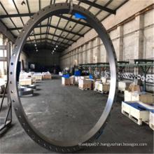 Structural steel high-diameter flange