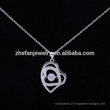 Wholesale Alibaba ZheFan Novos Modelos de Prata Esterlina 925 Colar de Pingente de Dança