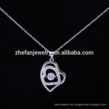 Großhandel Alibaba ZheFan Neue Modelle 925 Sterling Silber Tanzen Anhänger Halskette