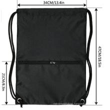 Original factory cheap price polyester draw string sports bag custom promotional drawstring bag with logo