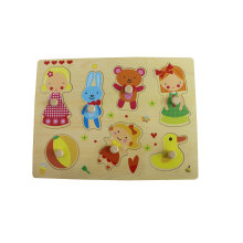Hot Chirstmas Gift Wooden Girl Playing PuzzleToy for Kids and Children