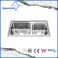 Above Counter Stainless Steel Moduled Kitchen Sink (ACS-7843A)