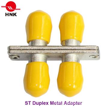 St Duplex Metal Standard Fiber Optic Adapter