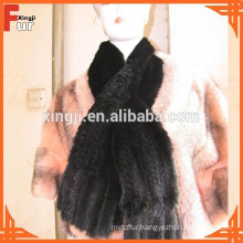 Most Popular Knitted Mink Scarf Fur Scarf