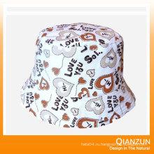 Пользовательские тканые этикетки шерстяные шляпы ведро