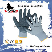 13G Nylon Palm Latex Crinkle Coated Industrial Glove