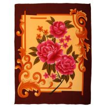 Große Blumen-Flachbett-Druck-Vlies-Decke