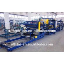 Cheap metal EPS sandwich panel/steel/ PU sandwich panel roll forming machine factory manufacturer in shanghai