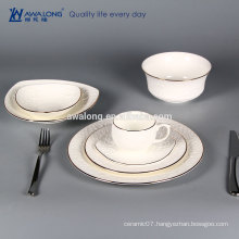 pure white porcelain dinnerware embossed rose pattern crockery dinnerset