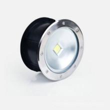 Lámpara empotrada de 40W COB LED, luz LED de suelo de acero inoxidable