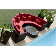 Conjunto de sofá de interior Design bom ao ar livre de vime PE