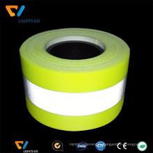 Bande réfléchissante ignifuge jaune fluorescent de fournisseur de la Chine pour l'uniforme de pompier