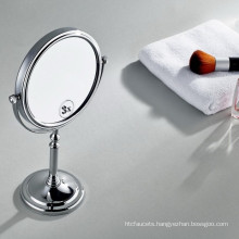 Double Side Chromed Swivel Table Top Standing Makeup Mirror