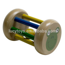 Baby Wooden Bell Rattle Toy