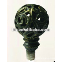 D19mm antique brass iron window curtain rod ball end finial for home decor made in China