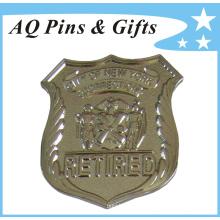 La insignia de la policía del metal para la insignia jubilada del oficial (insignia-127)