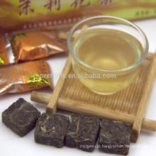 Jasmine Flavored Blocos de Chá China Yunnan Alta Qualidade Comprimido Chá Verde