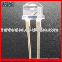 8mm 0.25w 60mA 18-20LM head strawhat 2 chips túnel luz leds