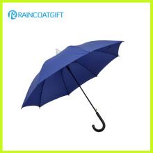 Blauer gerader Haken-Griff-Regen-Regenschirm