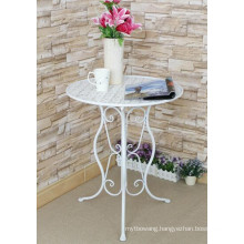Wrought Iron Indoor and Outdoor Furniture Folding Table