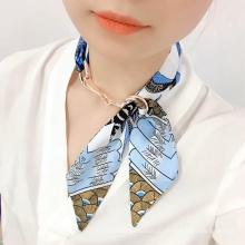 модный платок элегантный шелковый шарф с принтом
