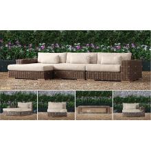 BORA BORA - Nueva Colección UV resistencia Wicker PE Rattan salón de estar al aire libre establece para muebles de jardín