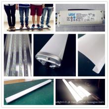 Dispositivos elétricos de iluminação impermeáveis apertados do diodo emissor de luz da Tri Prova do vapor de 4FT