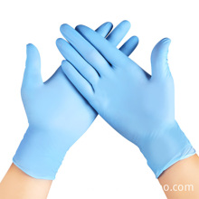 Одноразовые ПВХ перчатки синего цвета